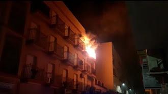 Imagen de un incendio producido en una vivienda del municipio de Albox hace un año.
