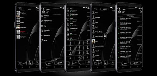 Dialer MetalGate Black theme for PC