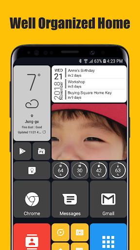 Screenshot for Square Home Key - Launcher: Windows style in Hong Kong Play Store