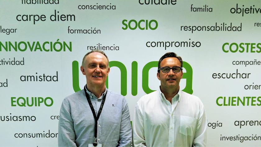 Enrique de los Ríos y Antonio M. Carmona, gerentes de Única y Sunaran
