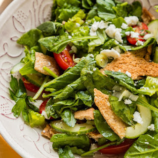 Greek Salad With Crispy Pita