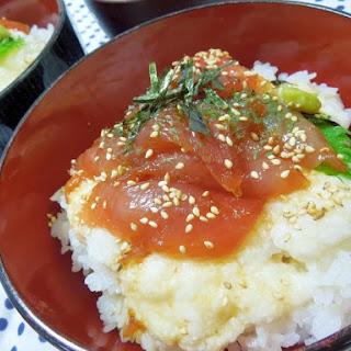 Marinated Tuna and Grated Yam Donburi (Rice Bowl)