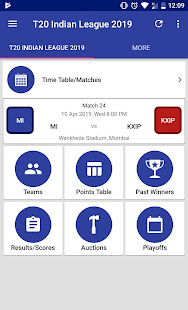 Download Indian T20 League 2019 -Time Table Live Score For PC Windows and Mac apk screenshot 1