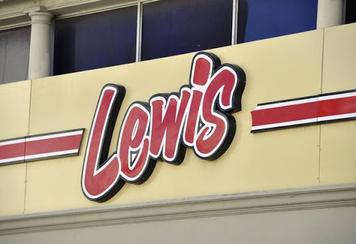 Lewis Furniture store signage in Cape Town, South Africa.