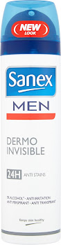 Sanex Men Dermo Invisible 24H Anti Stains - 150ml