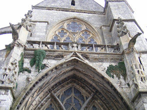 Photo: The view up the church's front façade.