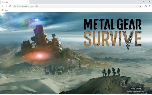 Metal Gear Survive New Tab Theme