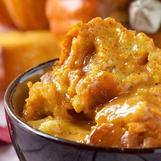 Crockpot Pumpkin Bread Pudding Recipe