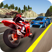 Bike Racing  Traffic Highway Speed Rider