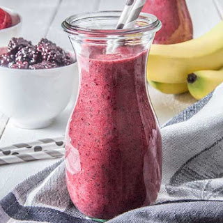 Triple Berry Chia Detox Smoothie Recipe