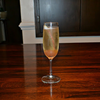 Spiced Rhubarb Champagne Cocktail
