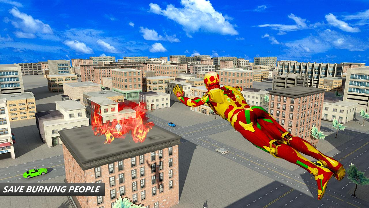 Flying Robot Superhero: Crime City Rescue- screenshot
