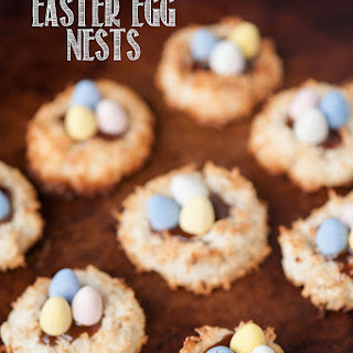 Coconut Caramel Easter Egg Nests