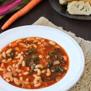 Easy White Bean & Tomato Soup {vegan}.