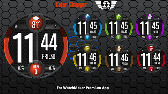 VIPER 116 color changer watchface for WatchMaker for PC-Windows 7,8,10 and Mac apk screenshot 2