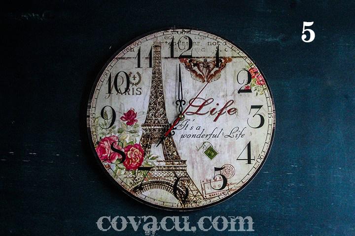 Đồng hồ treo tường phảng phất chút cổ điển qua thiết kế Paris Vintage