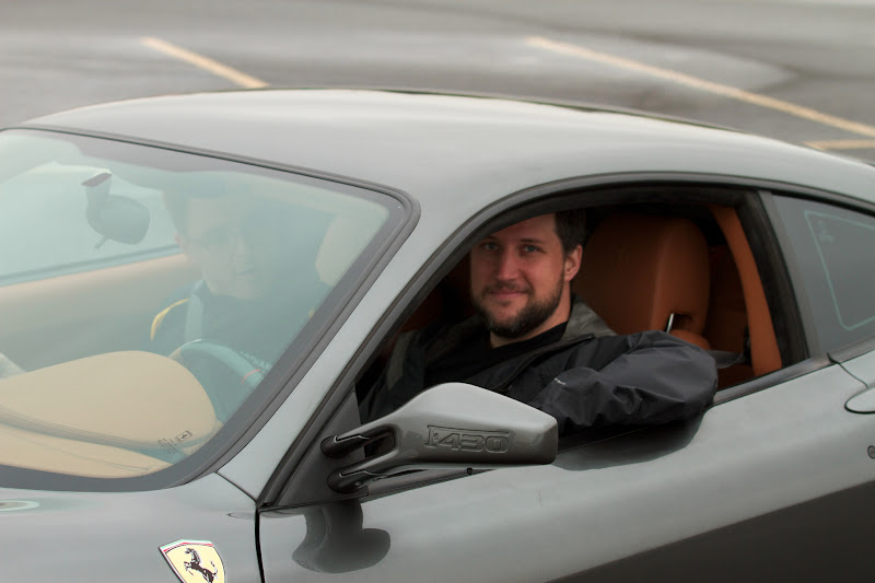 Photo: In case you don't know a lot about Ferraris, I'm sitting in an F430. Not everyone can tell that just, you know, from looking at the bumper or the mirrors or something.