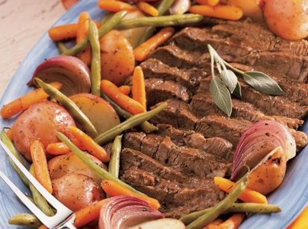 Beef Pot Roast With Vegetables And Herbs Recipe