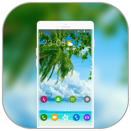 Theme for natural coconut tree wallpaper icon