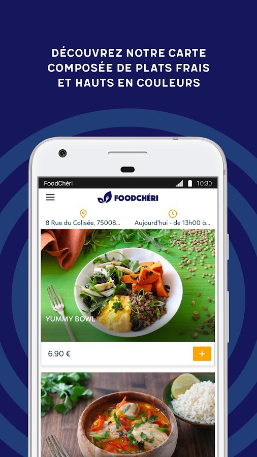 FoodChéri – Capture d'écran