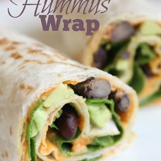 Healthy Hummus Wrap.
