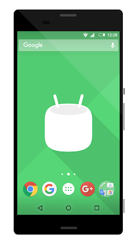 android Theme 6.0 Marshmallow Dark Screenshot 0