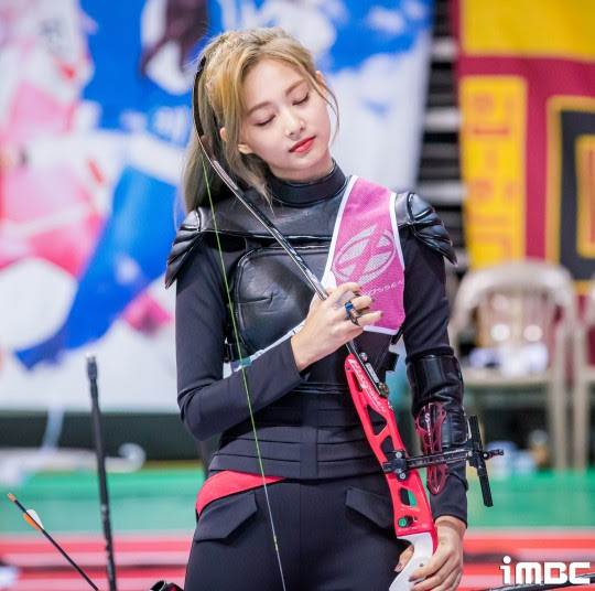 twice tzuyu archery2