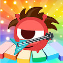 CandyBots Piano Kids Music Songs 🎹 Fun Baby Games icon