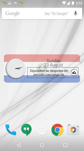 Paraguay Clock RSS Widget