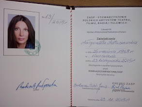 Photo: 23.11.2015 Małgorzata Matuszewska złożyła z wynikiem pozytywnym egzamin eksternistyczny dla artystów tancerzy w siedzibie ZASP w Warszawie.