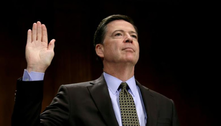 FBI Director James Comey is sworn in to testify before a Senate Judiciary Committee hearing on 'Oversight of the Federal Bureau of Investigation' on Capitol Hill in Washington. Picture: REUTERS