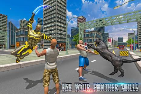 Superhero Panther Flying City Survival screenshot
