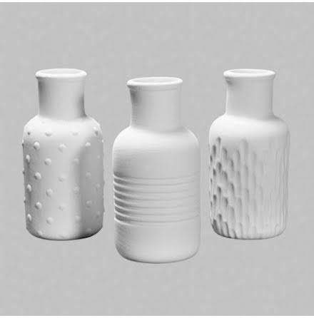 3 olika vaser - 6 st