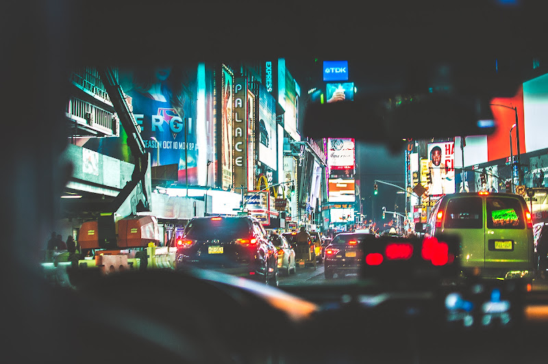Scorcio di New York dal Taxi di Ciro Palomba