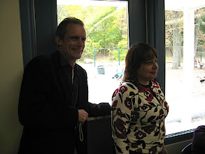 Photo: George Swain, Principal of Poughkeepsie Day School, Laura Graceffa, Teacher