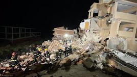 El edificio que se ha derrumbado.