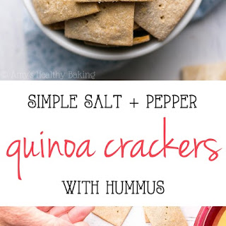 Simple Salt & Pepper Quinoa Crackers