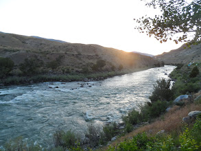 Photo: our 1st look at the Yellowstone River