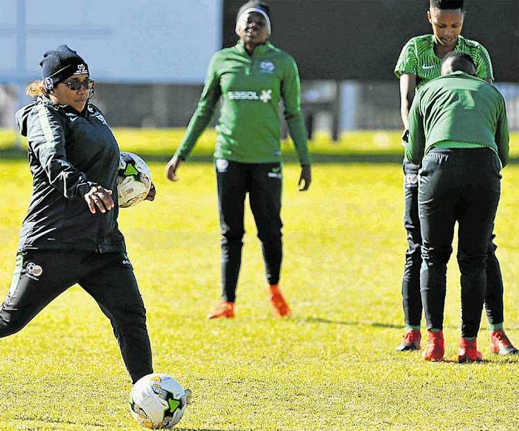 Banyana coach Desiree Ellis, left, said her team needs to wake up ahead of their Africa Women's Cup of Nations semifinal against Mali on Tuesday
