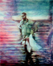 Photo: Man Carrying a Child 2006 20 x 16 in oil on canvas