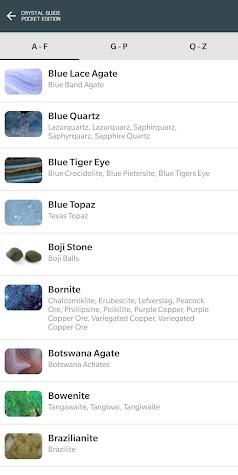 Crystal Guide Pocket Edition Screenshot