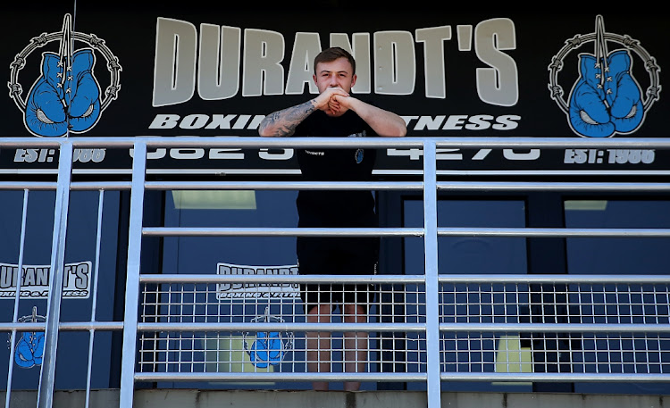 Damien Durandt at Durandts Boxing Gym, in Linksfield , Johannesburg. He is following in his fathers, Nicks, footsteps.