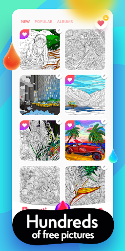 Colorain: Paint by Numbers or use Coloring Palette  screenshots 3