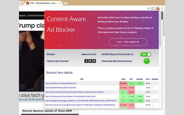 Content-aware Ad Blocker