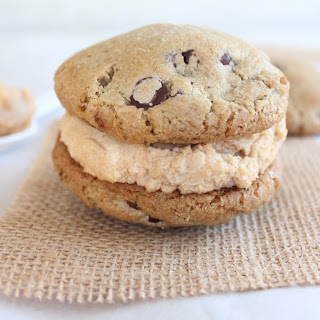 Peanut Butter Cheesecake Chocolate Chip Cookie Sandwiches.