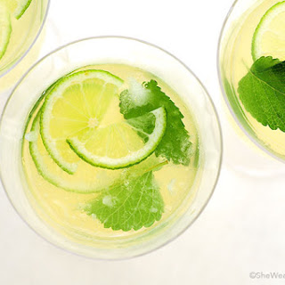 Honey Lemon Balm Spritzer.