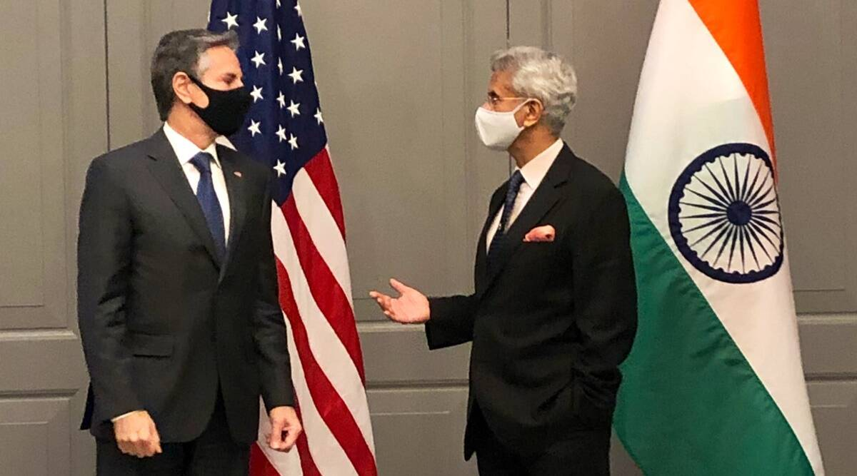 In first in-person meeting, Jaishankar, Blinken discuss Covid challenge |  India News,The Indian Express