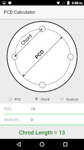 PCD and chord Calculator - náhled