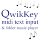 QwikKey: Midi Text Composer & Folder Music Player (app)