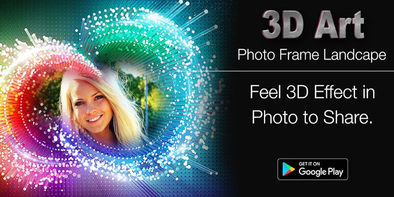 3D Art Photo Frame Landscape Screenshot 0